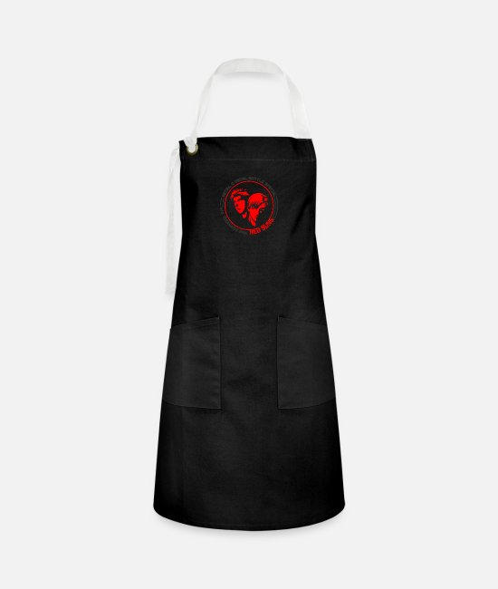 Red Aprons - Battle vocal initial D Red Suns - Artisan Apron black/white