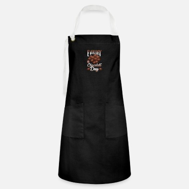 Line Chocolate - Candy Bar Sweet - Store T-Shirt - Artisan Apron