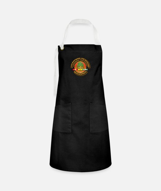 Mm Aprons - 1st Battalion, 5th Artillery (105mm Howitzer, Towe - Artisan Apron black/white