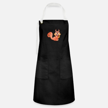 Catcher laughing squirrel gathers supplies - Artisan Apron
