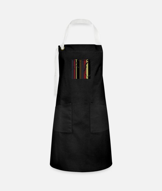 Twilight Zone Aprons - Retro Hitchcock - Artisan Apron black/white