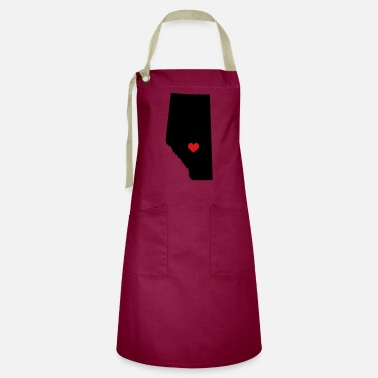 Love My heart is in Alberta - Artisan Apron