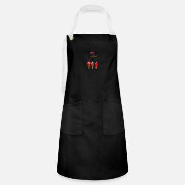 this girl runs for coffee and icecream - Artisan Apron