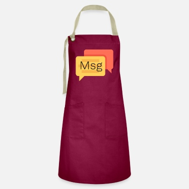 Text Message Msg, message, text - Artisan Apron