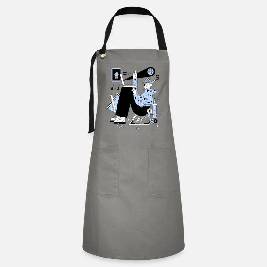 Scifi Aprons - Geek Gamer - Artisan Apron gray/black