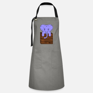 Tusk Elephant with tusks - Artisan Apron