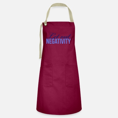 Sale Let out negativity - inner peace - Artisan Apron