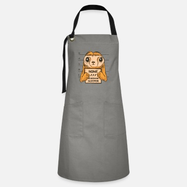 Relax Sleeping in home class, sloth police photo - Artisan Apron