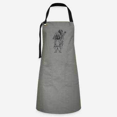 Medieval Knight with Armor and huge Sword - Artisan Apron