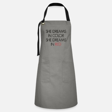 Sheet Metal Worker She Dreams In Color - Artisan Apron