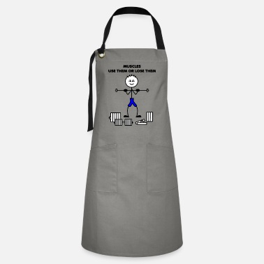 Six Pack MUSCLES USE THEM OR LOSE THEM - Artisan Apron