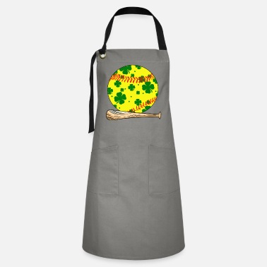 Party Monster Cool St Patrick's Day Softball Player Lover Gifts - Artisan Apron