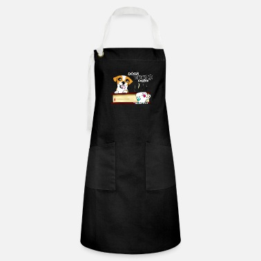 Dogs books and coffee - Artisan Apron