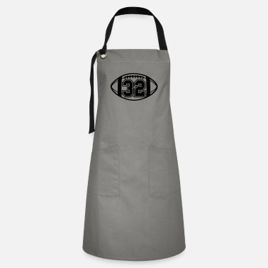 32 Football Vector 1_color TAS - Artisan Apron