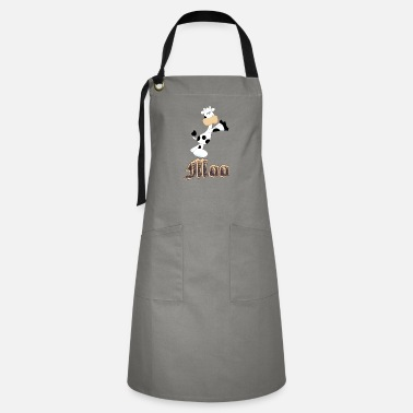 Moo Cow with moo word - Artisan Apron