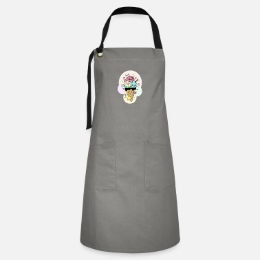 Ice Hand Drawn Illustrations Kawaii Ice Cream Gift - Artisan Apron