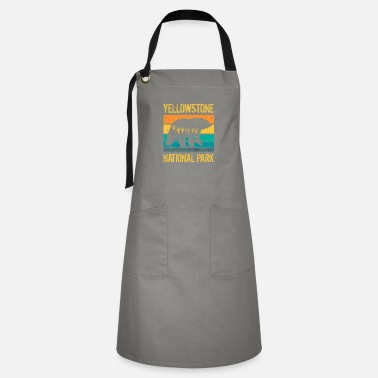 Outdoor Vintage Yellowstone National Park Bear - Artisan Apron