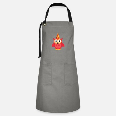 Bursdag Birthday Owl Cute Present Cool Girl Kid Bursdag - Artisan Apron