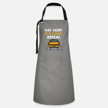 Open Eat Sleep Fix Cars Repeat Cars Mechanic Garage - Artisan Apron