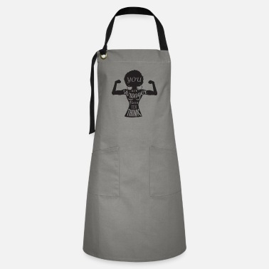 Afro people afro strong quotes Black Woman Nubian - Artisan Apron