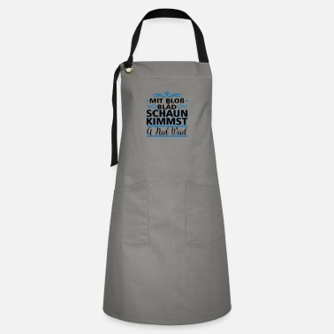 With just stupid look a ned weid gift - Artisan Apron