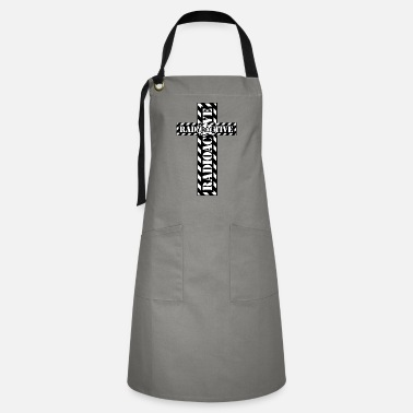 Nuclear Waste Radioactive tape | Cross - Artisan Apron