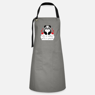 Look Charm Anniversary The cute & lovely Panda Tee for a panda lover, - Artisan Apron