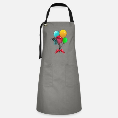 Mature 70th Celebrating,Anniversary,Birthday T-shirt - Artisan Apron