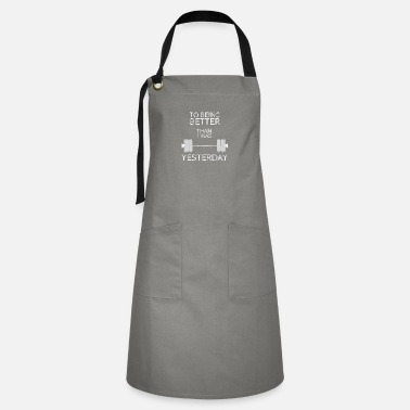 Weightlifting Fitness Gym design, To being better - Artisan Apron