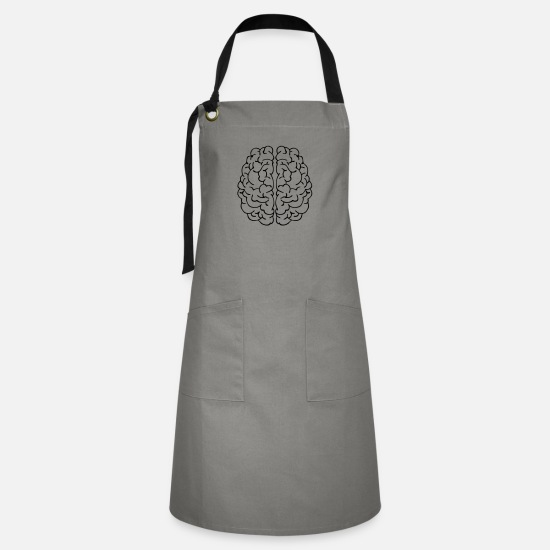 Organ Aprons - brain - Artisan Apron gray/black