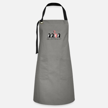 Yourself be different, little penguin, be a flamingo - Artisan Apron