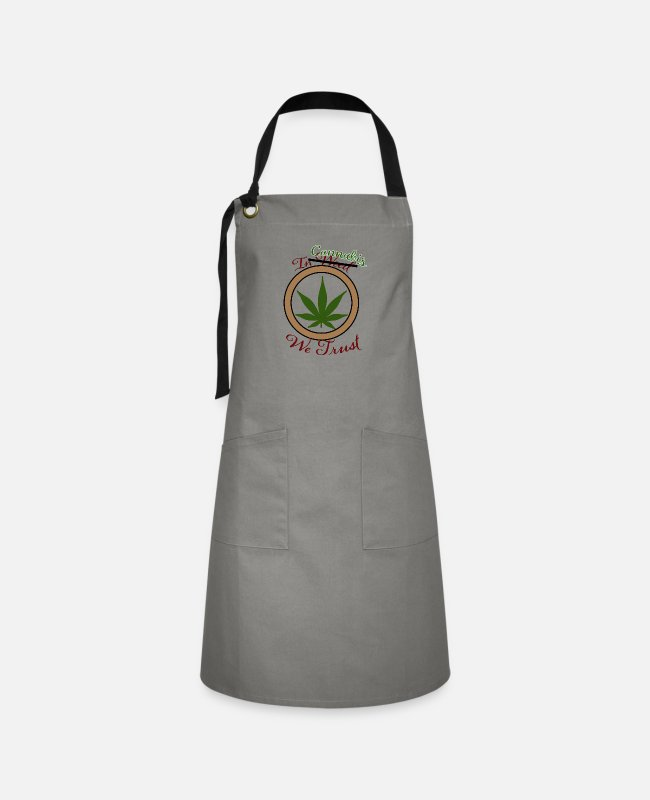 Marley Aprons - In Cannabis We Trust - Artisan Apron gray/black