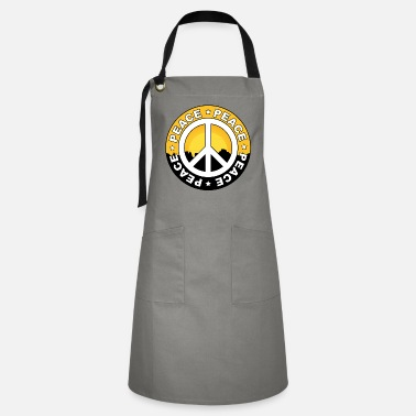 Letter-sign Peace sign with sunset and lettering - Artisan Apron