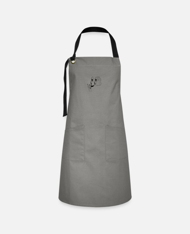 Aesthetic Aprons - Many faces - Artisan Apron gray/black