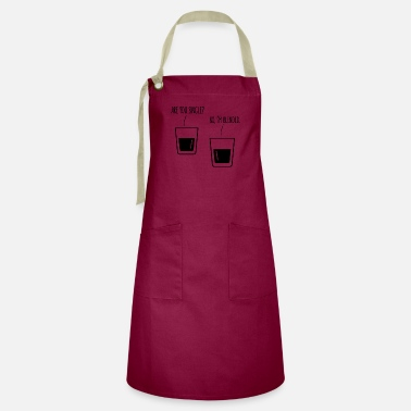 Single WHISKY SINGLE BLENDED QUOTE FUNNY GIFT WHISKEY FUN - Artisan Apron