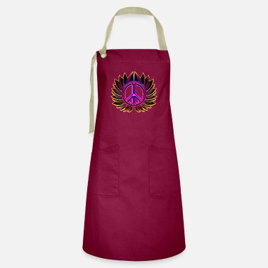 glowing peace sign flower - Artisan Apron
