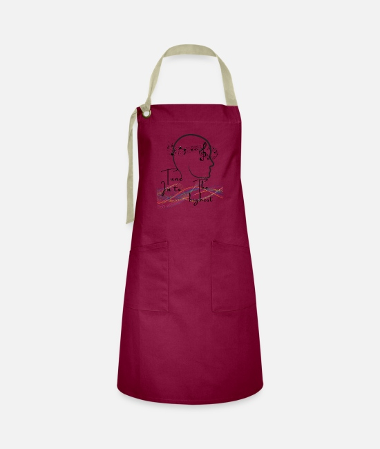High Aprons - Tune into the highest - Artisan Apron burgundy/khaki