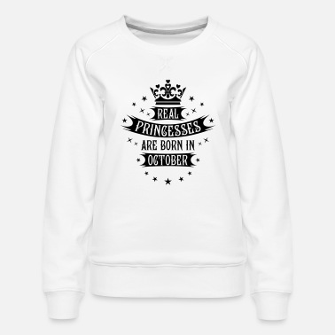 Real Princesses Are Born In October Birthday Toddler//Kids Long sleeve T-Shirt
