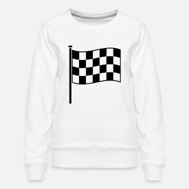 Motor Race checkered flag RACING motor sport - Women's Premium Sweatshirt