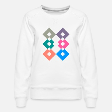 Aztec Triangle Square - Women's Premium Sweatshirt