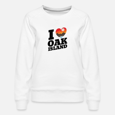 Oak Island I Love Templar Treasure Hunting Gift - Women's Premium Sweatshirt