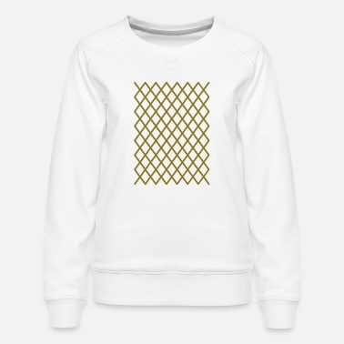 Majesty golden grid caro pattern - Women's Premium Sweatshirt