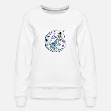 Fantasy Astronauts flying - Women's Premium Sweatshirt