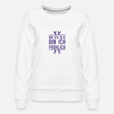 Cheer I am cheerful mechanic automobile car garage - Women's Premium Sweatshirt