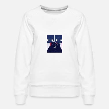 American Flag Kiss Window - Women's Premium Sweatshirt