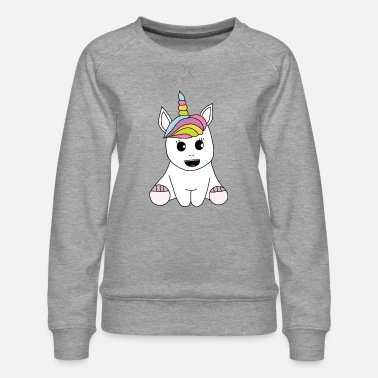 cute painted unicorn - Women's Premium Sweatshirt