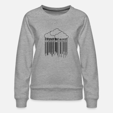 Ilustration Cloud Rainny Barcode Ilustration - Women's Premium Sweatshirt