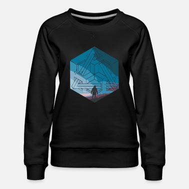 Illusion illusion and sky - Women's Premium Sweatshirt