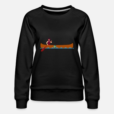Norway Canoe Canoeing Sweden Funny Gift Idea - Women's Premium Sweatshirt