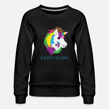 Daughter Unicorn Daddycorn Unicorn Dad Funny Gift Idea - Women's Premium Sweatshirt